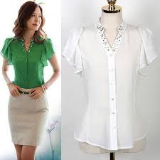 green womens blouse us 9 89 summer blouse white green colour diamonded shitr