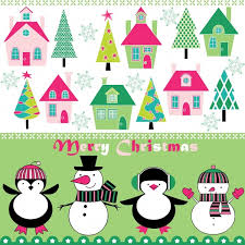 cartoon christmas background vector pattern cute free vector in