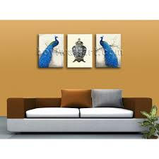 large giclee print on canvas peacock abstract wall art living room