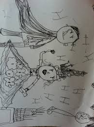 a line drawing of a prince and a princess by rose age 6 kidsart