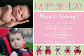 birthday invitation photo cards for girls with lady bugs