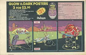 glow in the dark poster 1985 pineapple kids club glow in the dark poster offer