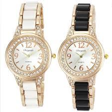 ladies necklace watch images 2 color black white steel chain quartz watch women ladies necklace jpg