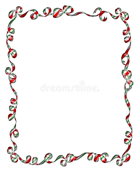 christmas ribbons and bows frame of christmas ribbons and bows stock illustration