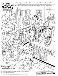 coloring pages of kitchen things free fire safety coloring pages stove safety coloring sheets life