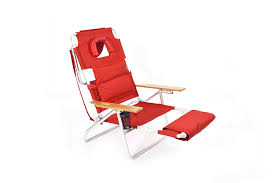 Fully Reclining Beach Chair Amazon Com Ostrich Deluxe Padded Sport 3 In 1 Beach Chair Red