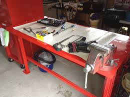 new work bench vise and tool box cafe jack