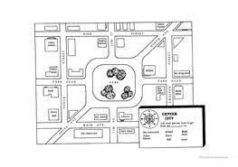 11 free esl city map worksheets