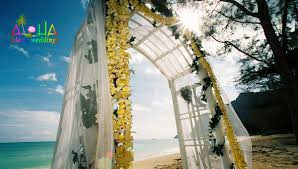 hawaii beach weddings custom designed alters on oahu