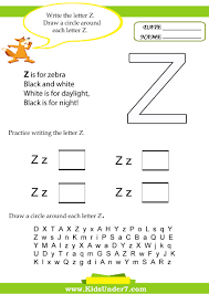 letter z worksheets for preschool free worksheets library