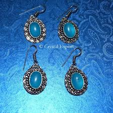 fancy earing export suppliers earrings aqua onyx fancy earing