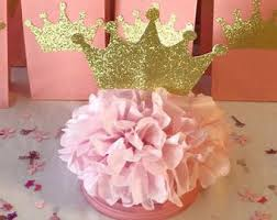 Royal Crown Centerpieces by Princess Crowns Personalized Pink And Gold By Abbeymariecreations