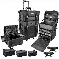 professional makeup artist bag shany soft makeup artist rolling trolley cosmetic with free