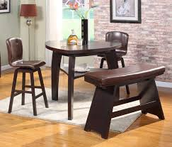 Triangular Kitchen Table by Dining Room Triangle Dining Table With Bench With Regard To