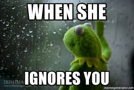 Rainy Day Meme - when she ignores you kermit rainy day meme generator