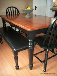 Refinishing A Dining Room Table With Paint And Wood Stain Wood - Refinish dining room table