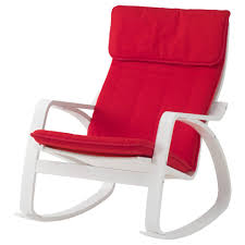 Funky Accent Chairs Chairs Poang Rocking Chair White Ransta Red Funky Occasional