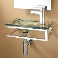 Clear Glass Bathroom Sinks - bathroom sink bathroom sink wall mount glass hung clear l vanity