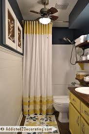 shower curtain ideas for small bathrooms 11 actually helpful tricks for decorating a small bathroom hometalk