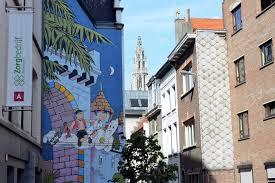 comic strip wall mural wall murals you ll love the wonderful comic strip walls of antwerp comic book wall murals