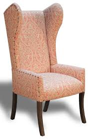 Accent Wingback Chairs Chairs Leather Top Wingback Chair For Complete Comfort Wing Back