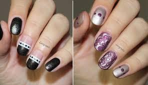 2 easy nail design ideas opi starlight youtube
