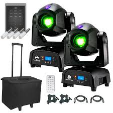 american dj lighting equipment 2 american dj focus spot two high powered 75w led moving head with