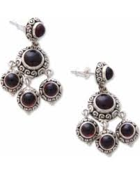 Garnet Chandelier Earrings Deal Alert Novica Garnet Chandelier Earrings Blessing