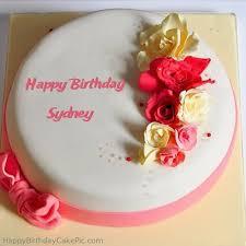 roses happy birthday cake for sydney