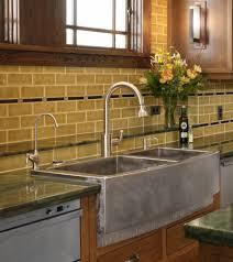 farmhouse sink with backsplash kitchen sink with backsplash amazing ideas on budget metal tile