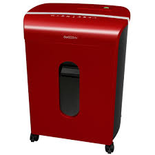 goecolife commercial 12 sheet crosscut shredder multi goecolife gmw120p red 12 sheet microcut paper shredder red