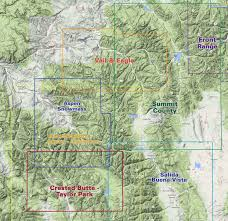 Maps Of Colorado Summit County Trails Colorado Recreation Topo Map Latitude 40