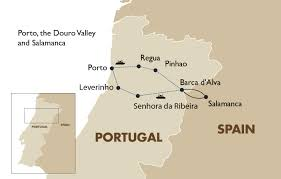Salamanca Spain Map by Porto The Douro Valley Portugal And Salamanca Spain