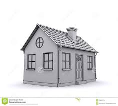frame house 3d model of a white stock images image 23888794