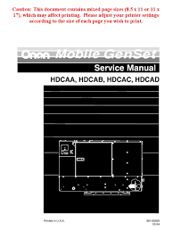 manual de operador onan 10hdcac mechanical engineering energy
