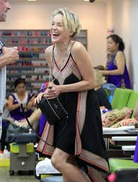 sharon stone visits a nail salon in beverly hills zimbio