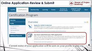 master of project academy online pmp application steps