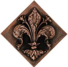 Tile Medallion Backsplash by Metal Fleur De Lys Elegance Diagonal Tile