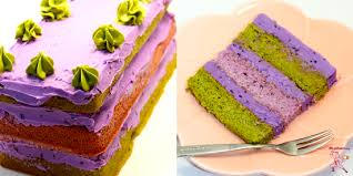 gluten free lavender chocolate and japanese green tea matcha layer
