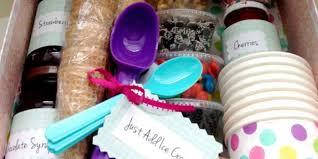 Ice Cream Gift Basket How To Make An Easy Ice Cream Sundae Gift Basket Tip Junkie