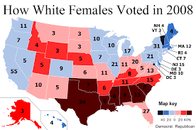 2008 Presidential Election Map by The White Female Vote In 2008 The Politikal Blog