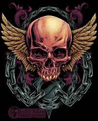 skull t shirt design for mma apparel brand on behance