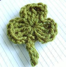 crochet shamrock pattern free