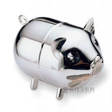 personalized silver piggy bank piggy bank