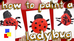 how to paint a ladybug youtube