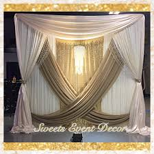 wedding backdrop canopy wedding draping decor by event decor tent draping