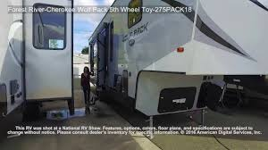 forest river 5th wheel floor plans forest river cherokee wolf pack 5th wheel toy 275pack18 youtube