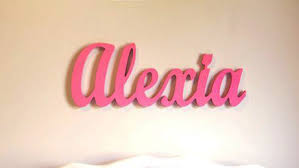 wooden name sign baby name plaque large painted personalized