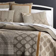 jaipur orange quilt and pillow shams crate and barrel