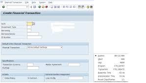 sap t code description table table for tcode ftr create in sap fi treasury module